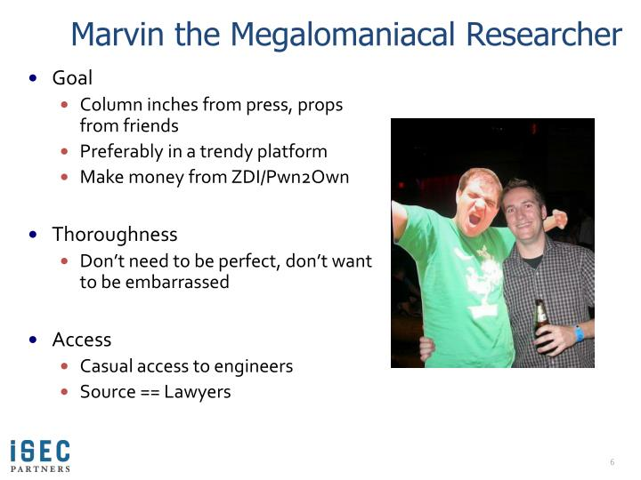 Marvin the Megalomaniacal Researcher