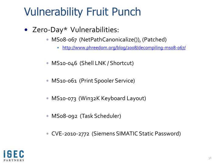 Vulnerability Fruit Punch