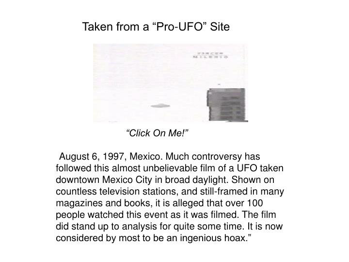 "Taken from a ""Pro-UFO"" Site"
