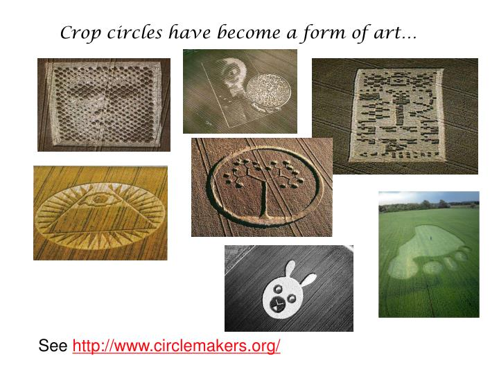 Crop circles have become a form of art…