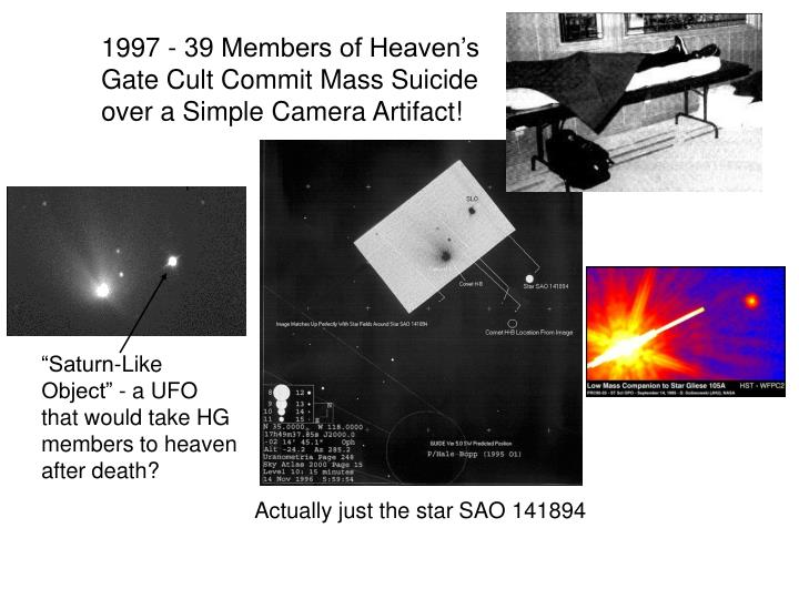 1997 - 39 Members of Heaven's Gate Cult Commit Mass Suicide over a Simple Camera Artifact!