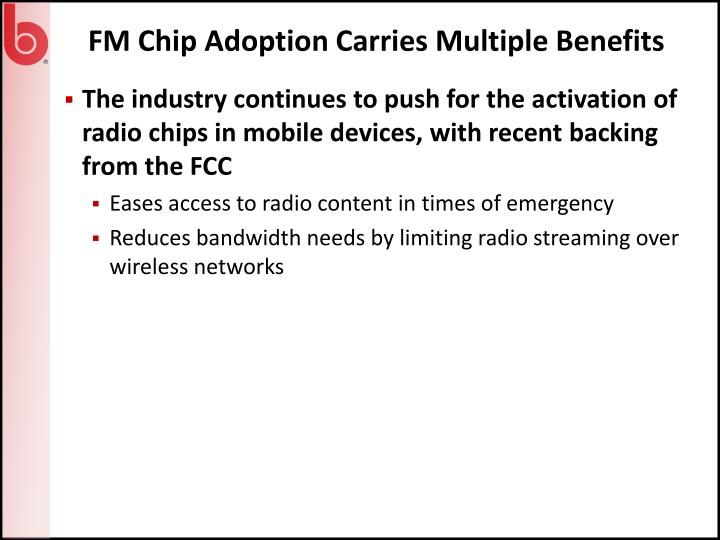 FM Chip Adoption Carries Multiple Benefits