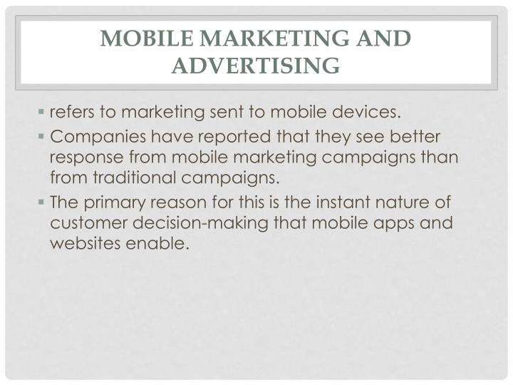 Mobile marketing and