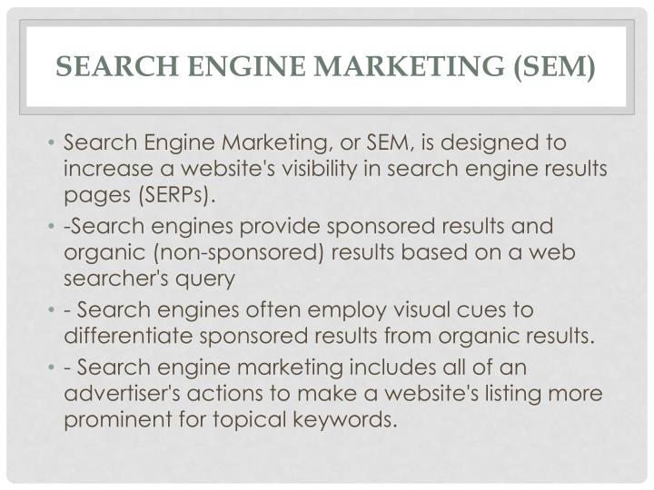 Search Engine Marketing (SEM