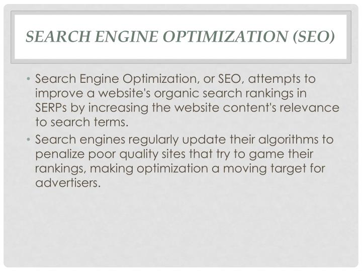 Search Engine Optimization (SEO