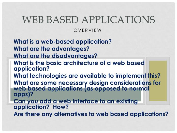 What is a web-based application?