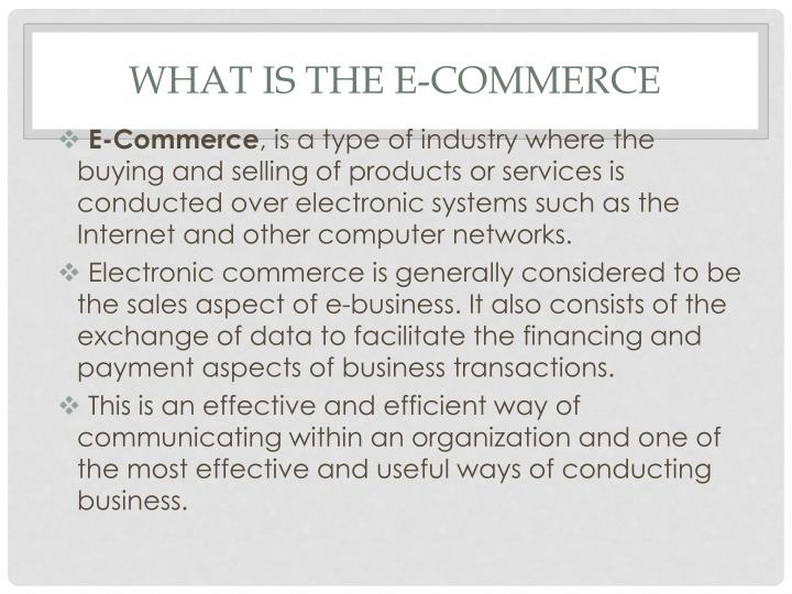 What is the e commerce