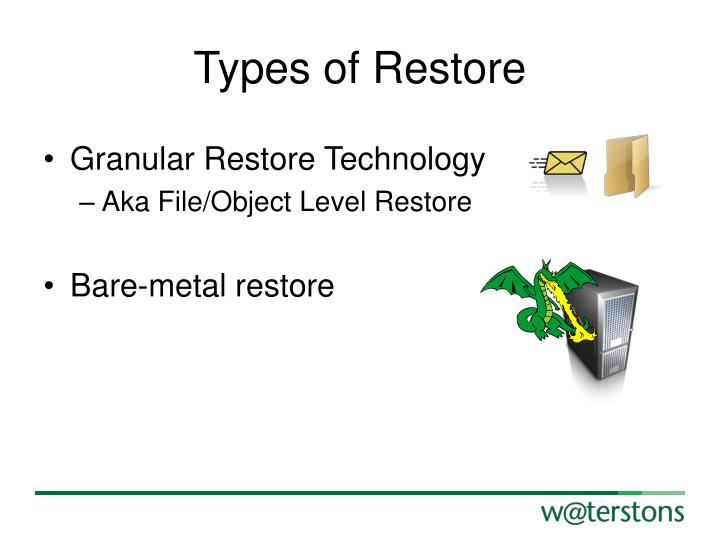 Types of Restore