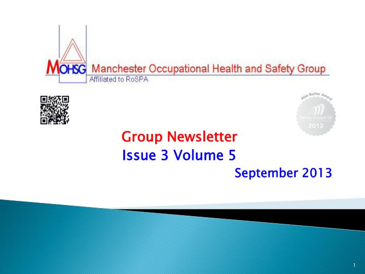 Group newsletter issue 3 volume 5 september 2013