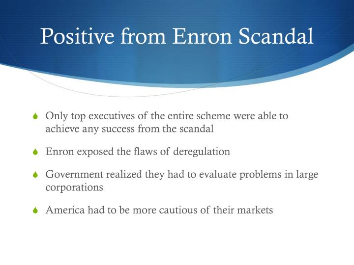 enron scandal external Commentary on the enron scandal has tended to focus on a number of financial   of directors, an audit and compliance committee, a big-5 external auditor (the.
