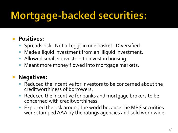 Mortgage-backed securities: