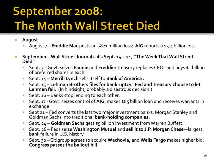 September 2008: