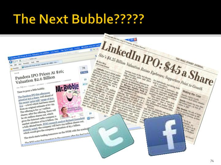 The Next Bubble?????