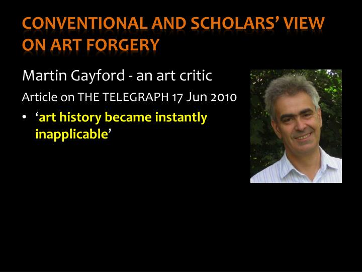 art forgery thesis Eric hebborn was one of the greatest art forgers of the his thesis that the experts were dunces—and yet was upset by the art forger's.