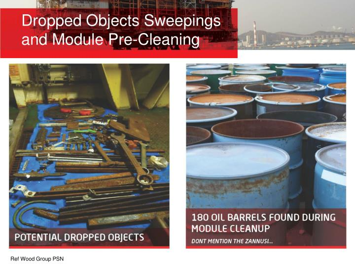 Dropped Objects Sweepings and Module Pre-Cleaning