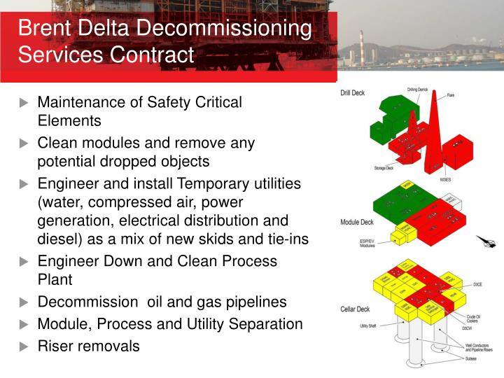 Brent Delta Decommissioning Services Contract