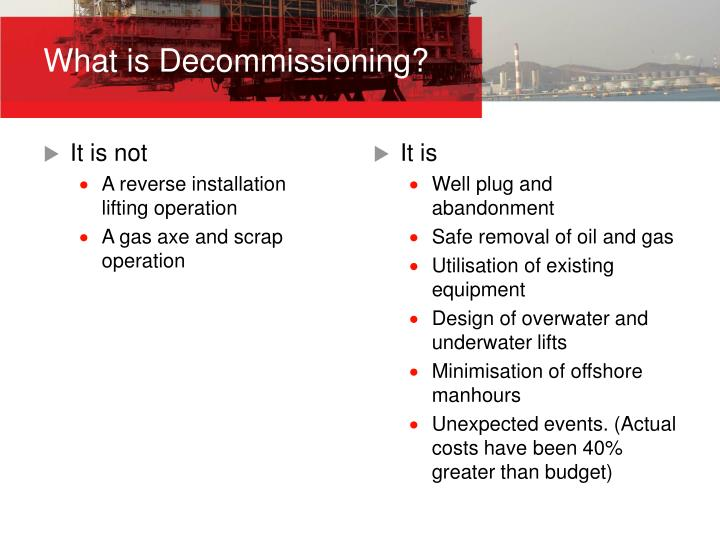 What is Decommissioning?
