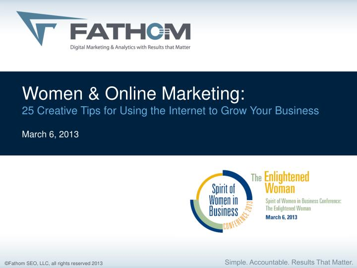 Women & Online Marketing: