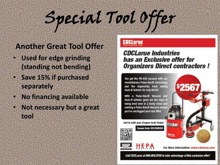 Special Tool Offer