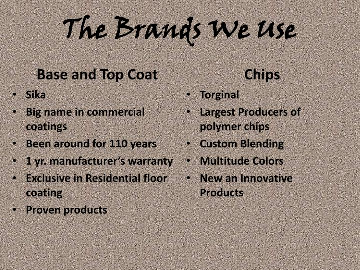 The Brands We Use