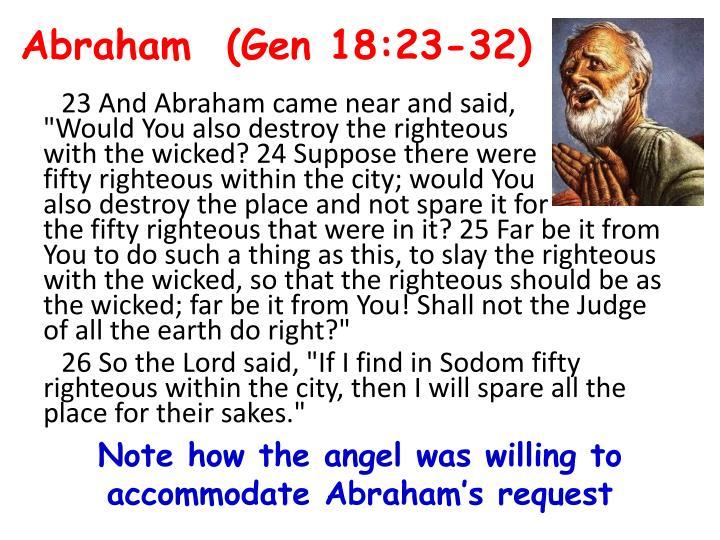Abraham  (Gen 18:23-32)