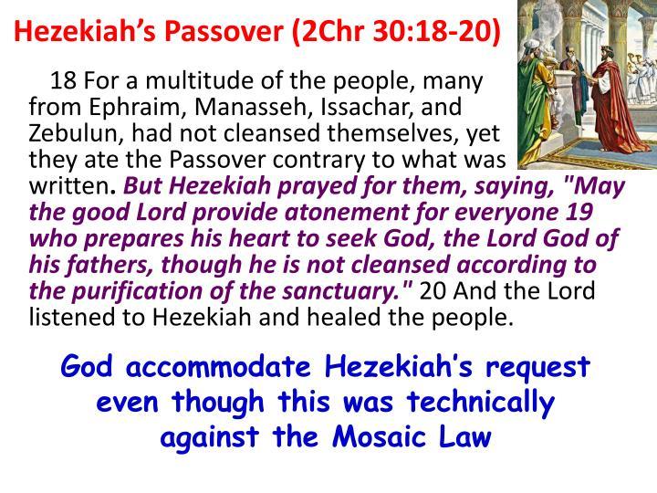 Hezekiah's Passover (2Chr 30:18-20)