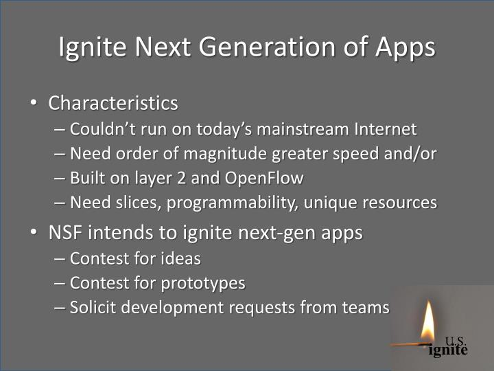 Ignite Next Generation of Apps