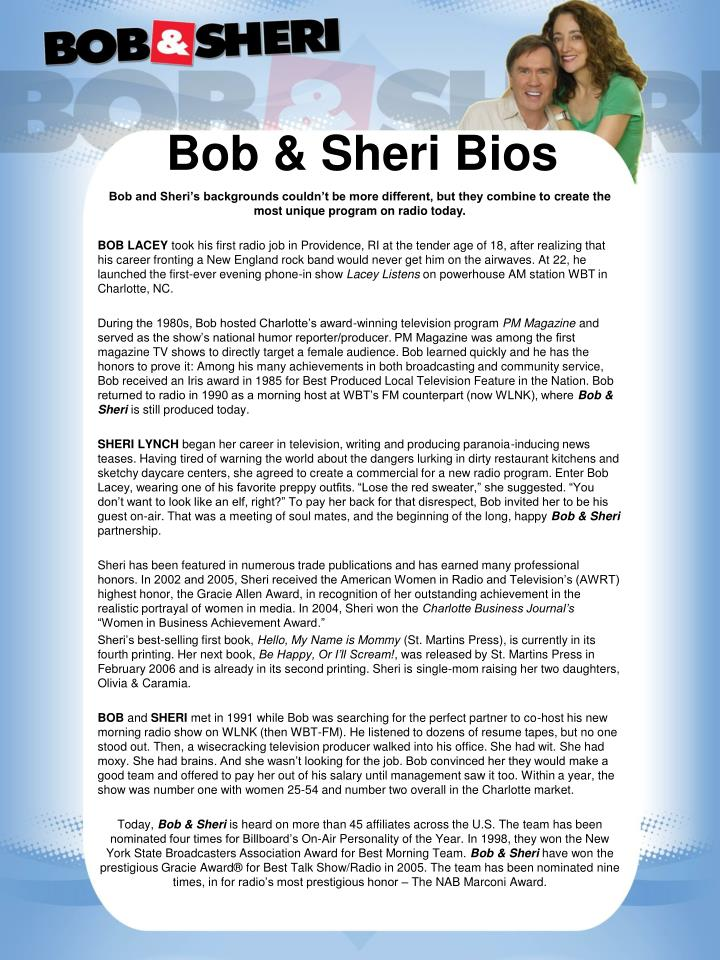 Bob & Sheri Bios