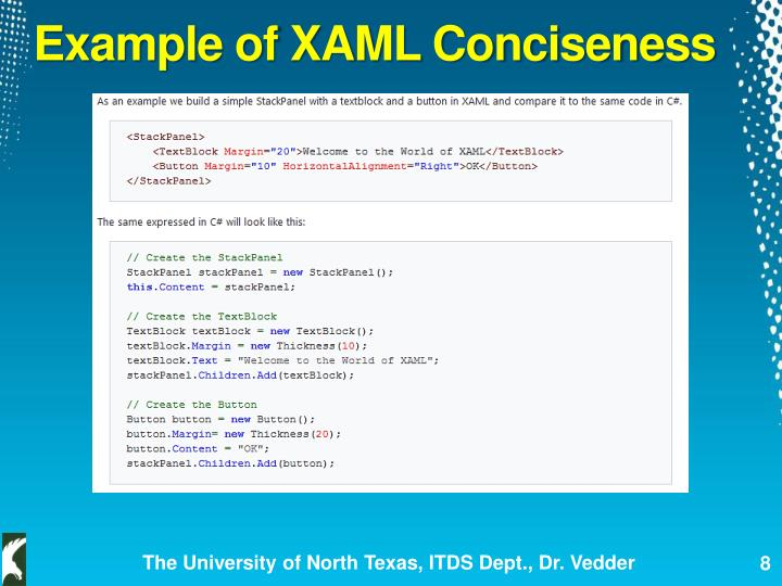 Example of XAML Conciseness