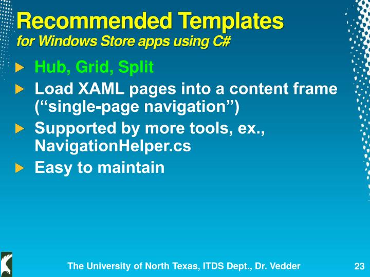 Recommended Templates
