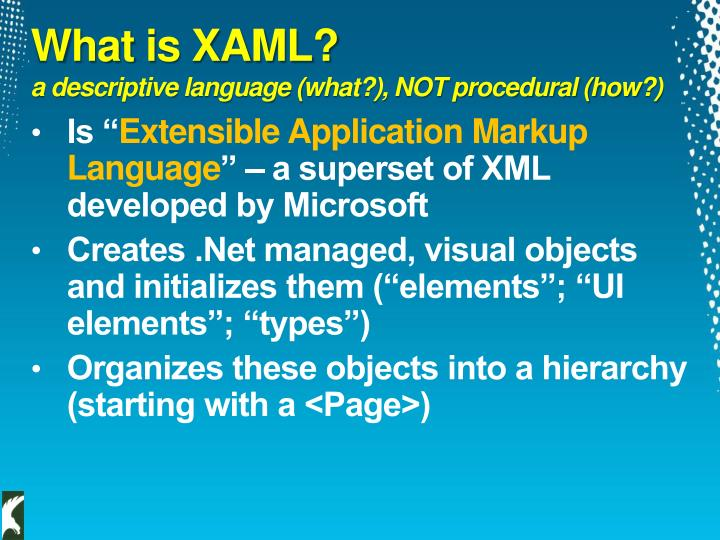 What is XAML?