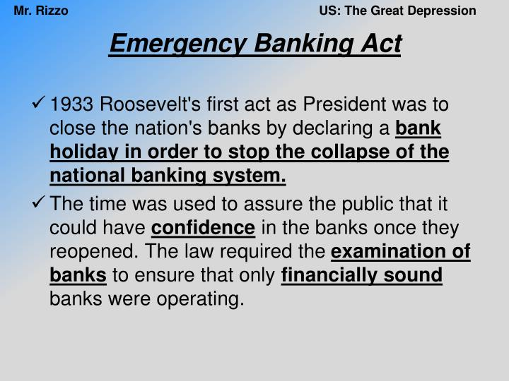 Emergency Banking Act