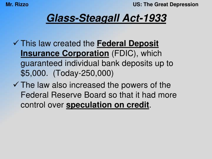 Glass-Steagall Act-1933