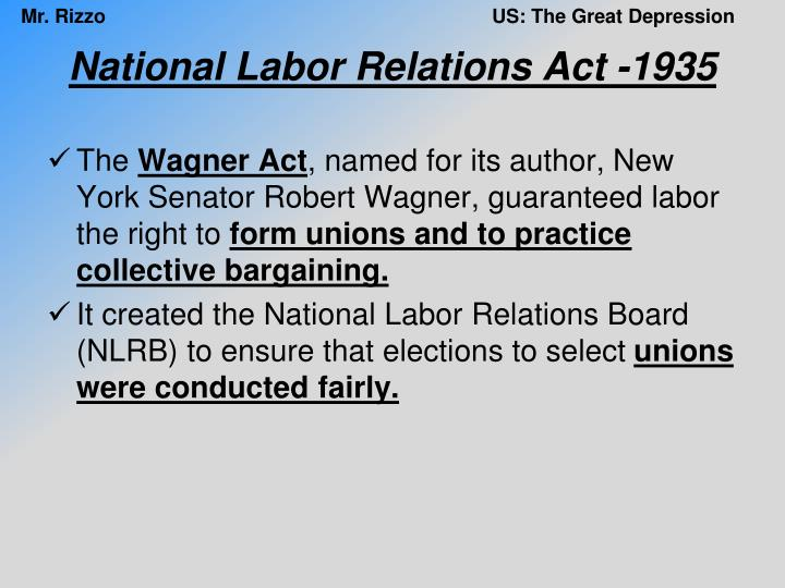 National Labor Relations Act -1935