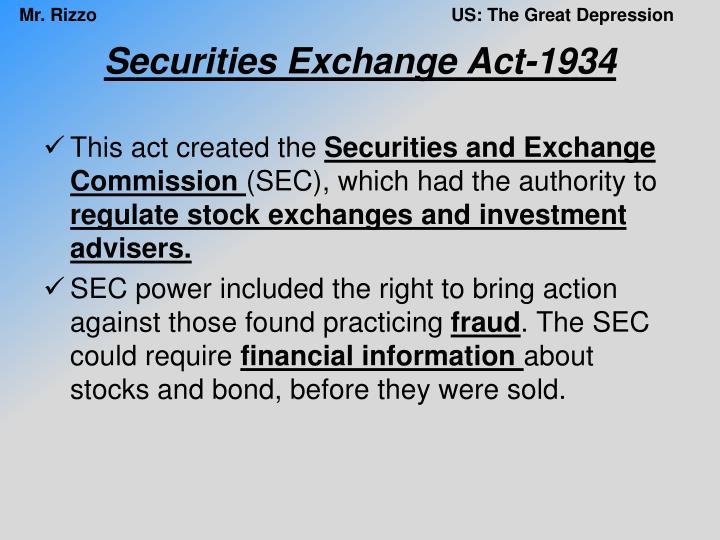 Securities Exchange Act-1934