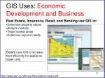 gis uses economic development and business