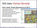 gis uses human services