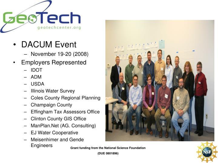 DACUM Event