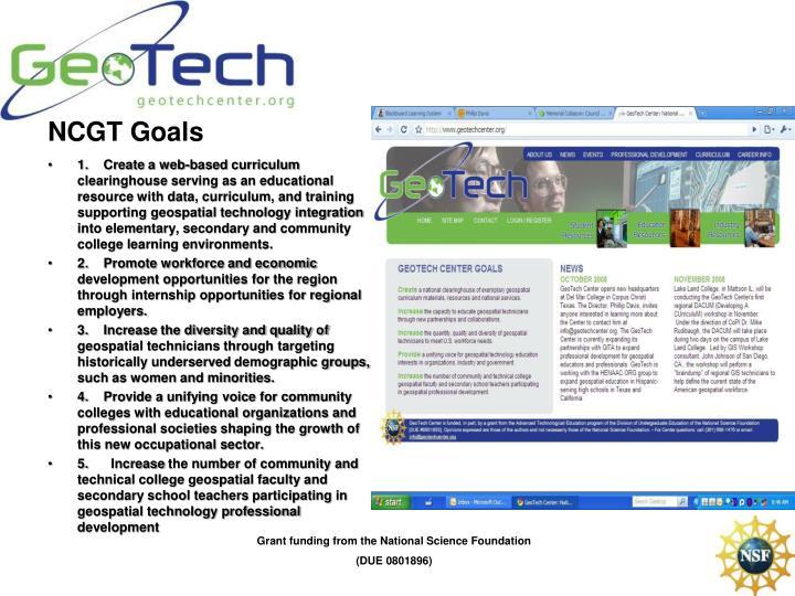 NCGT Goals