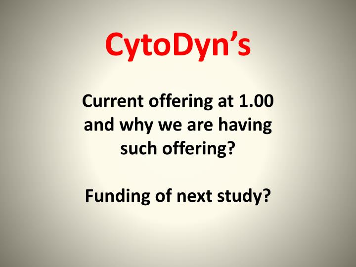 CytoDyn's