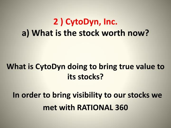 2 ) CytoDyn, Inc.