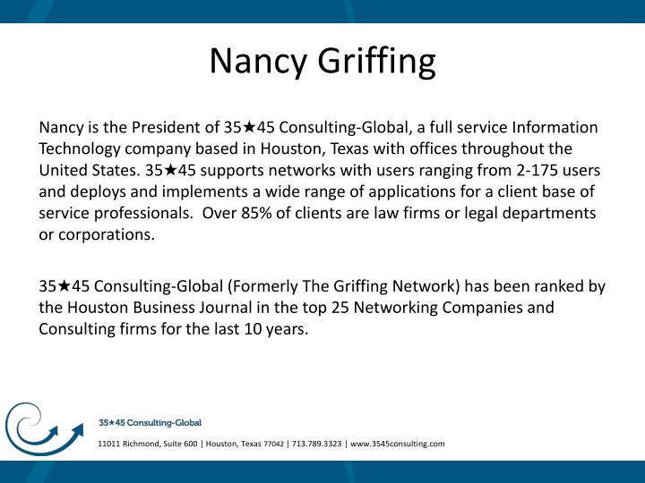 Nancy griffing
