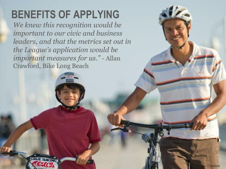 Benefits of applying