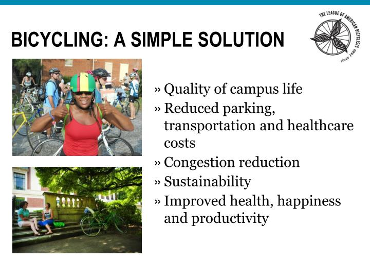 Bicycling: a simple solution