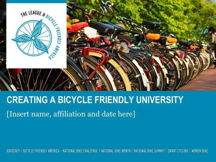 Creating a bicycle friendly university