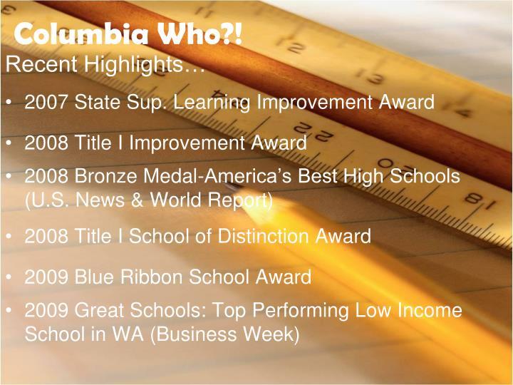 Columbia Who?!