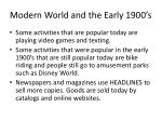 modern world and the early 1900 s