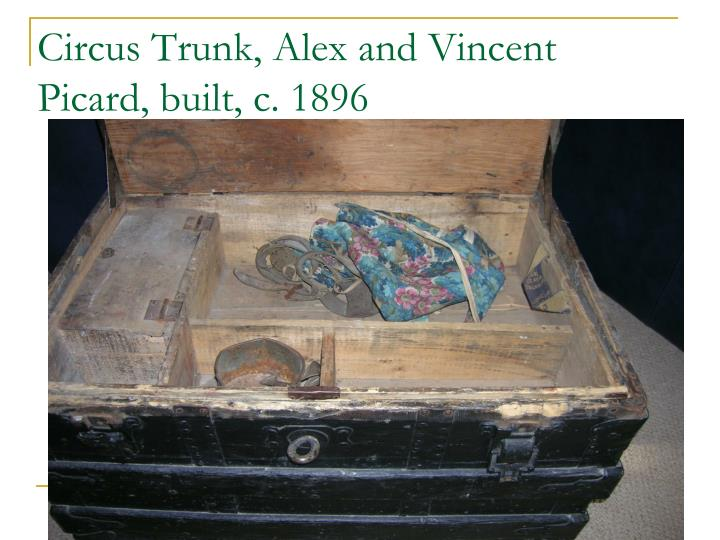 Circus Trunk, Alex and Vincent Picard, built, c. 1896