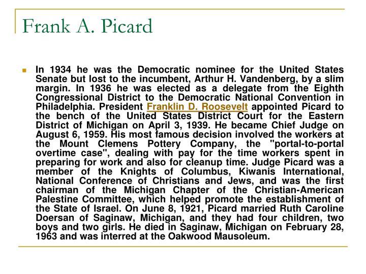 Frank A. Picard