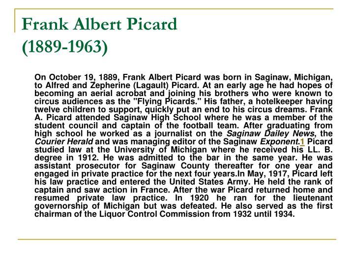 Frank Albert Picard